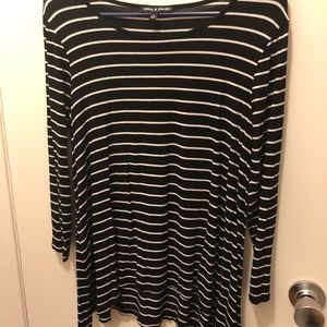 6629ca7ceac Women s 3 4 Sleeve Striped Top- M
